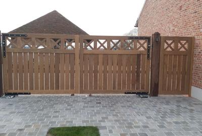 Landelijke houten poort